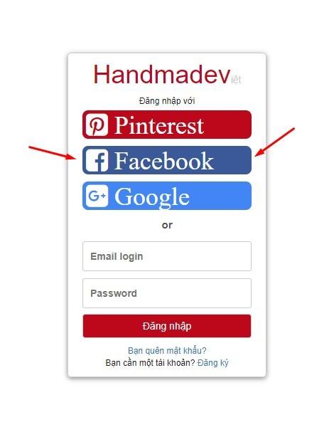Ở bước này bạn click vào 'Facebook' để facebook cho phép trang web biết bạn là ai trên facebook tức là xác nhận danh tính của bạn không phải là máy.