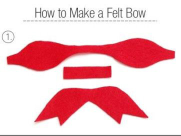 Các bạn dùng kéo cắt 3 mẫu vải như hình sau đó chúng ta bắt đầu gắn chúng lại với nhau.