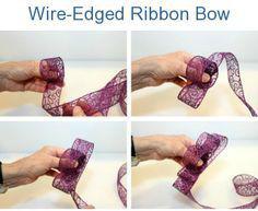 Đầu tiên các bạn dùng dải duy băng cuộn lại như hình quanh ngon tay tạo hình vòng cung, điều này nhằm tạo tâm điểm cho chiếc nơ. Tiếp theo tạo cánh cho nơ bằng cách gấp nếp liên tiếp gối nhau phía dưới như hình.