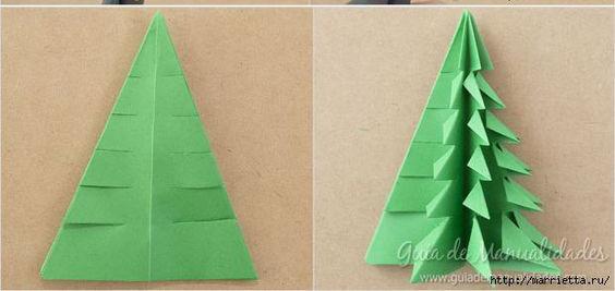 Lúc này là khâu bung lụa nào các bạn bóc các phần lớp giấy và gấp nếp như hình, chú ý lớp cắt đầu thì để nguyên tạo ngon cây thông nha.
