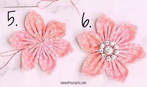 cách làm hoa vải