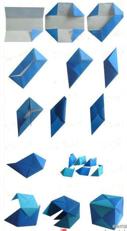 Thực hiện gấp theo các bước trên. Các bạn gấp nhiều màu khác nhau rồi ghép lại thành hộp vuông nhiều màu nhé. trông sẽ đẹp hơn.