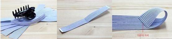 cắt vải thành dây như hình.