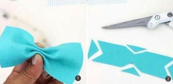 Cắt 2 miếng vải hình chữ nhật như hình trên