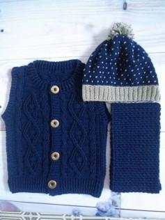 Set mũ áo khăn cho bé trai