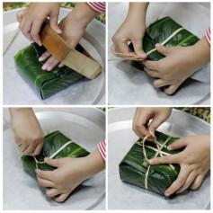 Cách làm bánh chưng ngày tết bằng khuôn gỗ cực nhanh