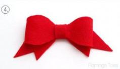Cách làm nơ màu đỏ bằng vải nhung
