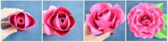 Hướng dẫn cách làm bông hoa hồng bằng giấy hồng