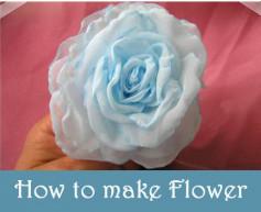 Hướng dẫn cách làm hoa hồng xanh bằng lụa giống 100%