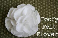 Hướng dẫn cách làm hoa từ vải dạ. có thể dùng làm nơ kẹp tóc, dây buộc tóc, nơ cài đầu.