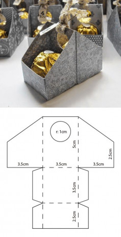 Hướng dẫn cách làm hộp đựng kẹo cực dễ thương trang trí ngày tết, ngày giáng sinh, sinh nhật