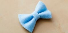 Hướng dẫn cách làm nơ từ vải dạ đơn giản.