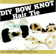 Hướng dấn cách trang trí dây buộc tóc từ vải mềm.