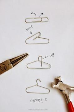 Hướng dẫn làm chiếc móc áo từ chiếc ghim giấy.