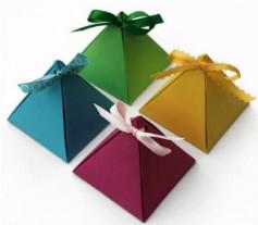 Hướng dẫn làm hộp hình kim tự tháp tuyệt đẹp, đơn giản.