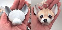 Làm hình cún con từ vỏ ốc dùng làm móc treo hoặc quà cho bạn bè