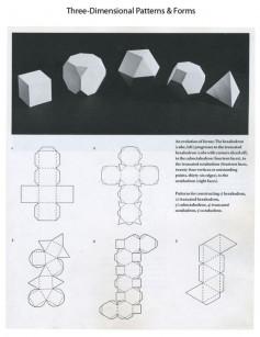 Mẫu thiết kế hộp các khối hình học.