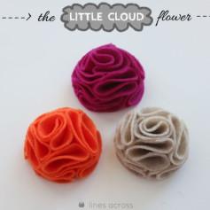 Hướng dẫn làm bông hoa mây nhỏ.