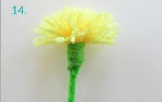 Hướng dẫn làm hoa bồ công anh từ len