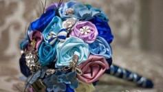 Hướng dẫn cách làm hoa cưới từ dây ruy băng tuyệt đẹp