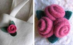 Làm bông hoa đơn giảm từ vải dạ
